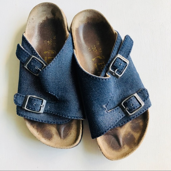 3dcc8de8a317 Birkenstock Shoes - Birkenstock Denim Sandals Size 6 Women s